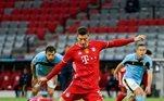 Robert Lewandowski, já eliminado da competição, é o 11º colocado, com 5 gols em 6 partidas disputadas