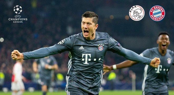 O artilheiro Lewandowski, do Bayern