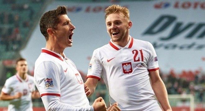 Lewandowski celebra com Joswiak