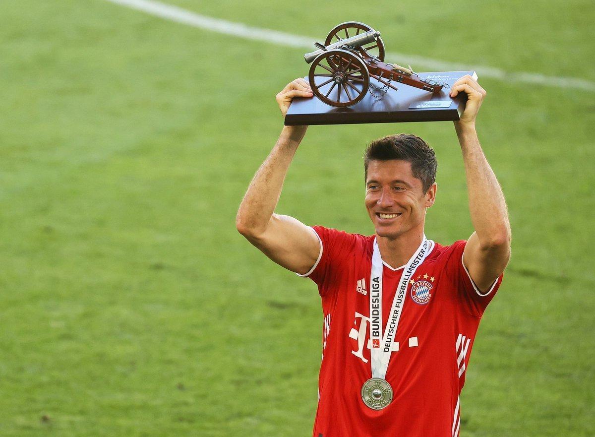 Lewandowski artilheiro nos torneios que deu ao Bayern a Tríplice Coroa. Vai ganhar