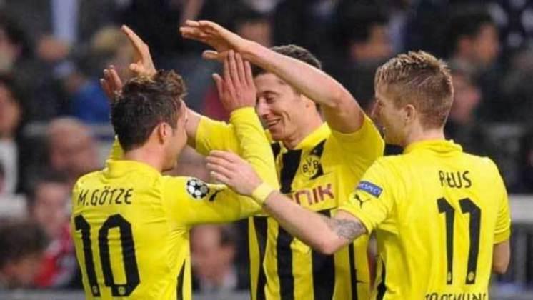Lewandowski e Mario Götze: jogaram juntos no Borussia Dortmund e Bayern de Munique.