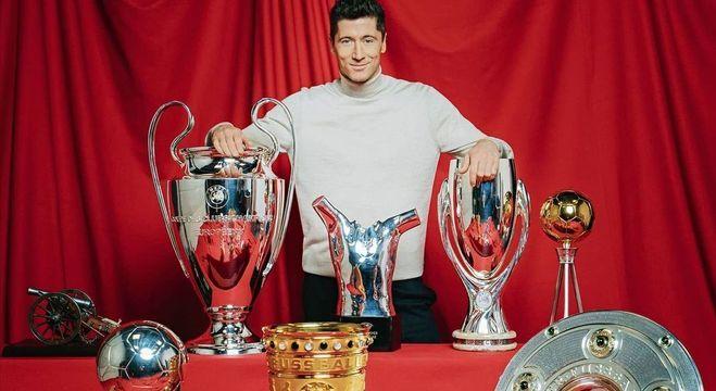 Lewandowski conquistou inúmeros troféus em 2020
