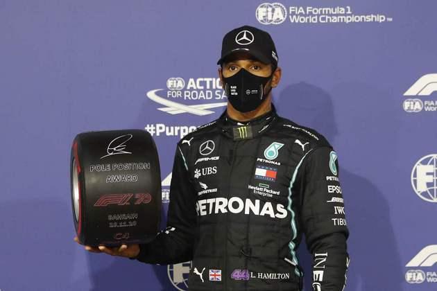 Lewis Hamilton conquistou sua 98ª pole na Fórmula 1.