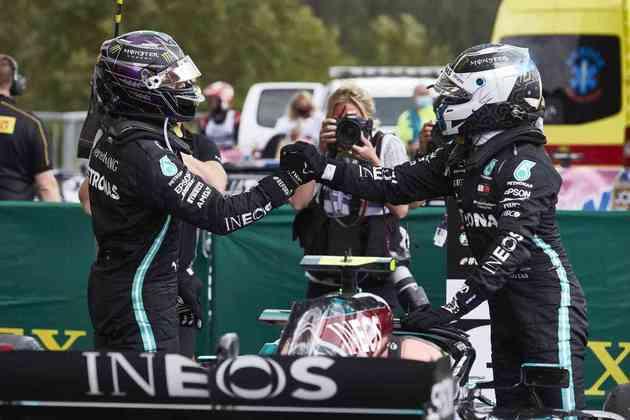 Lewis Hamilton e Valtteri Bottas novamente estiveram no pódio em 2020