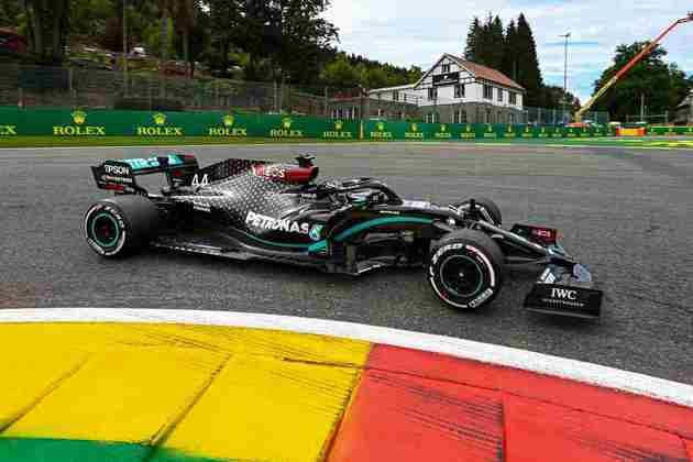 Lewis Hamilton ficou com o terceiro melhor tempo da sexta-feira em Spa