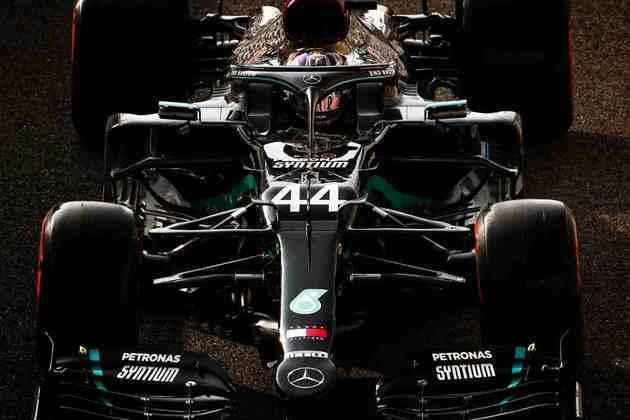 Lewis Hamilton, o terceiro colocado do dia.