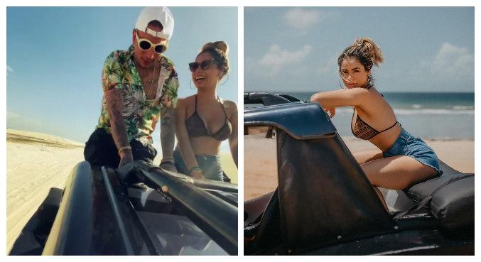 Lexa e Guimê viajaram para praia paradisíaca em Jericoacoara, no Ceará