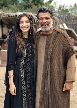 Maurício com Michelle nos bastidores