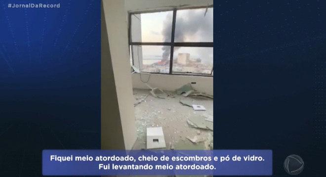 Libanês Kamal Kamal teve o escritório todo destruído