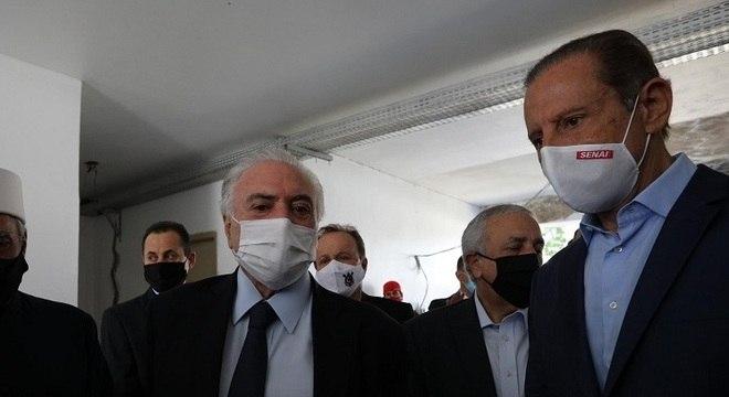 Michel Temer e Paulo Skaf estiveram no evento em São Paulo