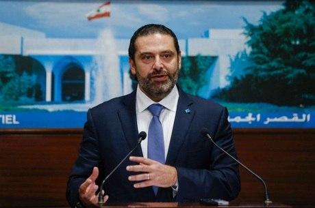 Saad Hariri anunciou medidas em coletiva ao vivo