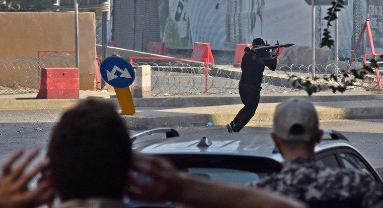 Combatentes usaram até lançadores de projéteis durante violência em Beirute