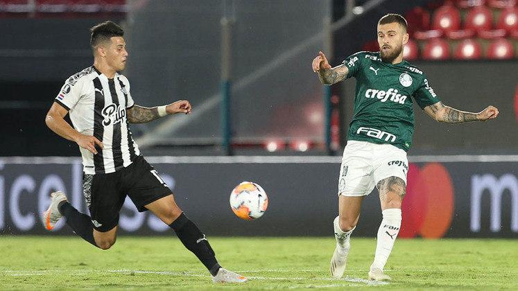 Libertad-PAR 1 x 1 Palmeiras – estádio Defensores del Chaco, em Assunção (PAR) – 8/12/2020 – Quartas de final (ida) – Gol: Gómez.
