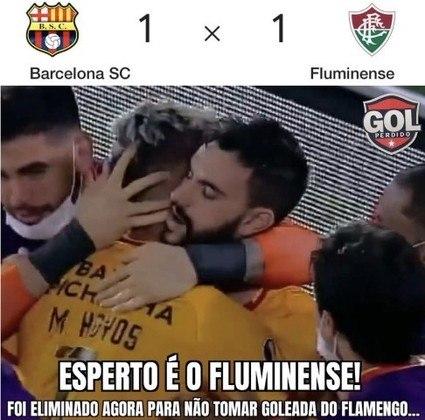 Libertadores da América: Fluminense é eliminado pelo Barcelona e rivais fazem memes na web