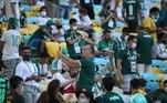 Apenas convidados da Conmebol, da CBF, dos clubes e dos patrocinadores puderam comparecer ao estádio