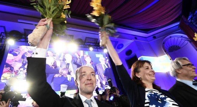 A extrema-direita ficou em segundo lugar nas eleições, por uma margem muito pequena de diferença em relação ao Partido Social Democrata