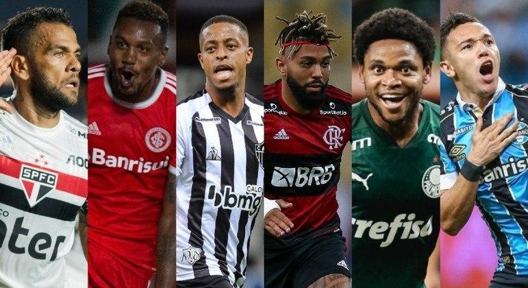 Seis líderes do Brasileirão duelarão entre eles nesta rodada. Quem ficará com a taça?