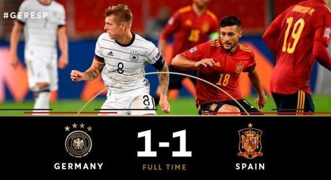 Alemanha 1 X 1 Espanha