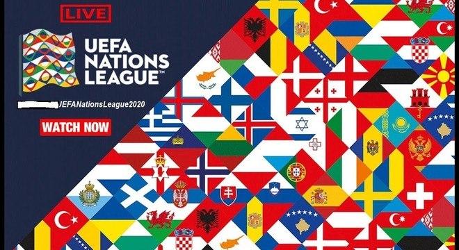 Um anúncio da Liga das Nações
