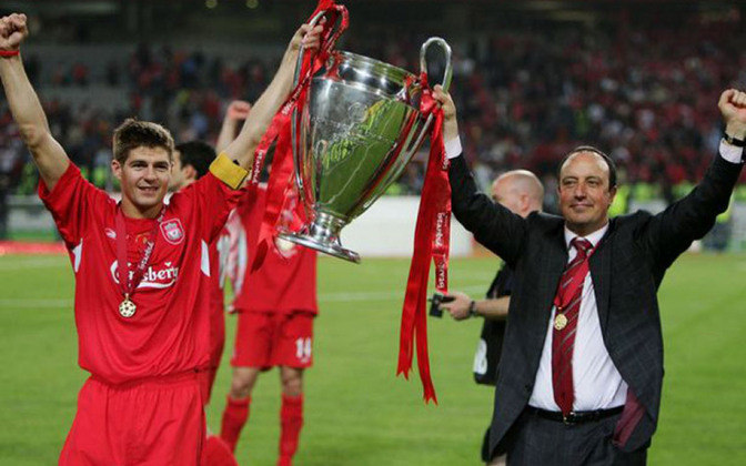 Liga dos Campeões - foram duas as conquistas do torneio continental mais relevante da Europa. a primeira foi uma das conquistas mais espetaculares da história do futebol, na final contra o Milan. O Liverpool chegou a estar perdendo por 3 a 0, arrancou o empate e foi campeão nos pênaltis....