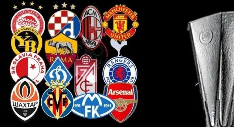 Os dezesseis clubes das oitavas de final da LE