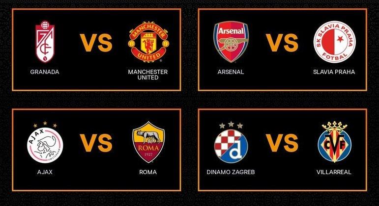 Os quatro confrontos da Liga Europa