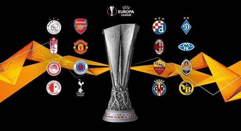 Os 16 clubes que estão nas oitavas de final da Liga Europa 2020/2021