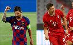 Barcelona e Bayern de Munique entraram em campo, neste sábado (8), pelas oitavas de final. Os espanhóis enfrentaram o Napoli e venceram por 3 a 1, enquanto os alemães que tinham placar largo, venceram por 4 a 1. Com classificação, equipes se enfrentam pelas quartas de final, na próxima sexta-feira (14)no Estádio da LuzLANCELLOTTI: O Bayern e o Barça completam os oito que seguem na Champions