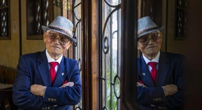 O coreano Lim Kwan Taik, de 91 anos, vive no Brasil desde 1956