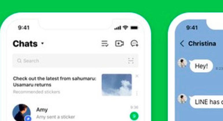Line contém as mesmas características dos outros aplicativos, porém também tem timeline e stories, funcionando como uma rede social mais aberta. Foi lançado em 2011.