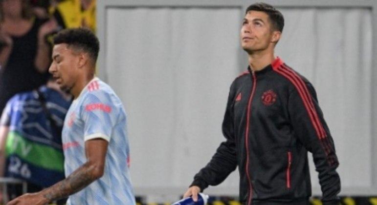 Lingard e Cristiano Ronaldo