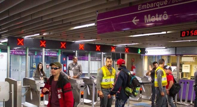 Quatro estações da linha 5-Lilás do Metrô de São Paulo estão fechadas