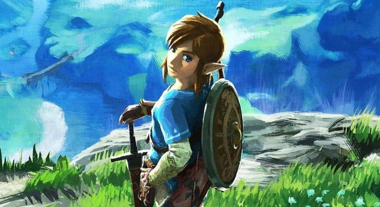 Link em arte de The Legend of Zelda: Breath of the Wild 2