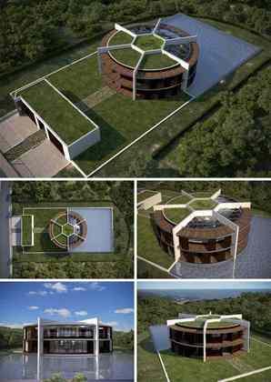 O argentino Lionel Messi deixou bem claro os seus gostos ao construir uma mansão em Barcelona em formato de bola de futebol