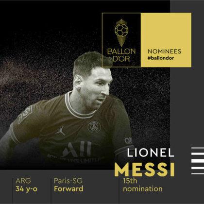 Lionel Messi (argentino) - atacante - Paris Saint-Germain