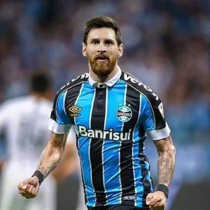 Lionel Messi com a camisa do Grêmio