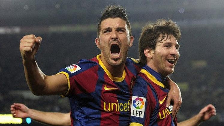 Lionel Messi e David Villa: os dois formaram parceria de sucesso no Barcelona, mas Villa deixou Messi furioso em uma partida contra o Granada. O espanhol preferiu chutar ao gol ao invés de passar ao argentino, que ficou furioso.