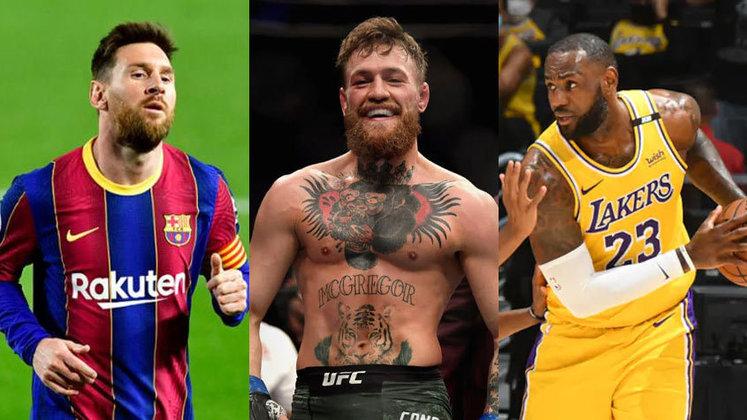 Lionel Messi está muito próximo de assinar seu novo contrato com o Barcelona. A mídia espanhola informa que o argentino aceitou uma redução de 50% do seu antigo salário. Dessa forma, o LANCE! montou uma lista com os 50 atletas mais bem pagos em 2020, segundo a revista Forbes. Confira!