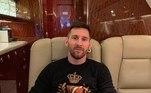 Lionel Messi, jatinho,