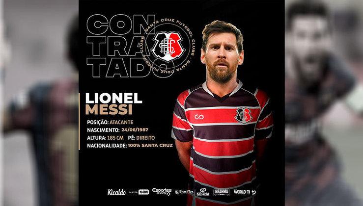 Lionel Messi no Santa Cruz