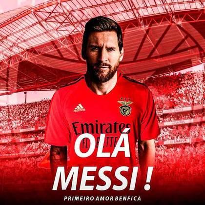 Lionel Messi sendo comandado por Jorge Jesus no Benfica?