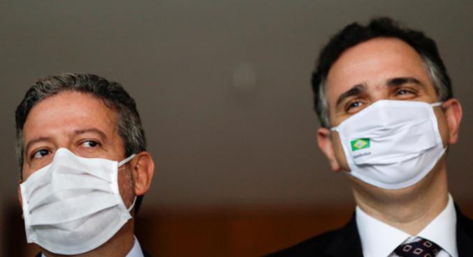 Os presidentes da Câmara, Arthur Lira, e do Senado, Rodrigo Pacheco
