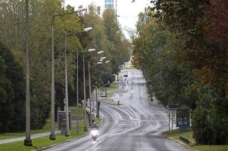 Lisboa com as ruas vazias com medidas restritivas
