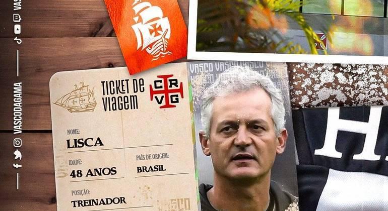 Lisca é o novo treinador do Vasco