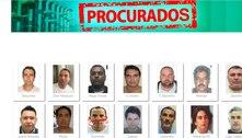 Presos há 5 meses cotinuam em lista de mais procurados do Brasil
