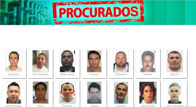 Três primeiros da lista (acima, da esquerda para a direita) já estão presos