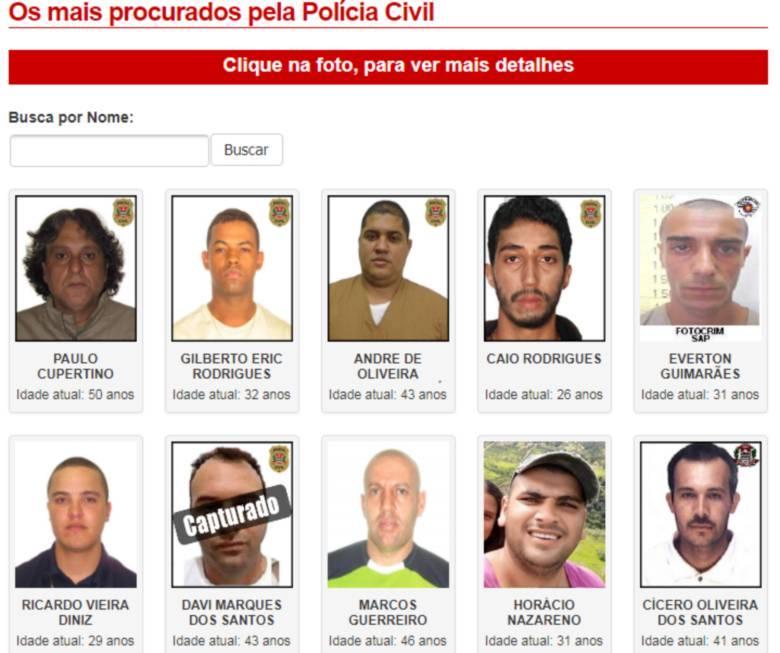 Assaltante que aparece como capturado ainda é tido como foragido na lista do MJSP