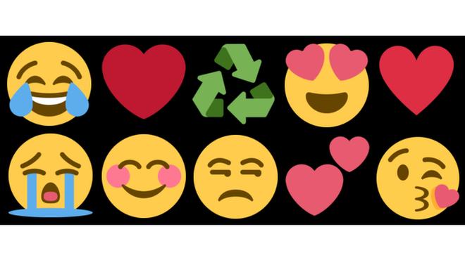 Carinhas que expressam emoções e o coração são alguns dos emojis mais populares
