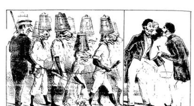 Litografias antigas de Henrique Fleiuss mostram parte do cotidiano dos 'tigres'
