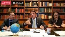 Efeito do lockdown é mais danoso que a covid-19, diz Bolsonaro